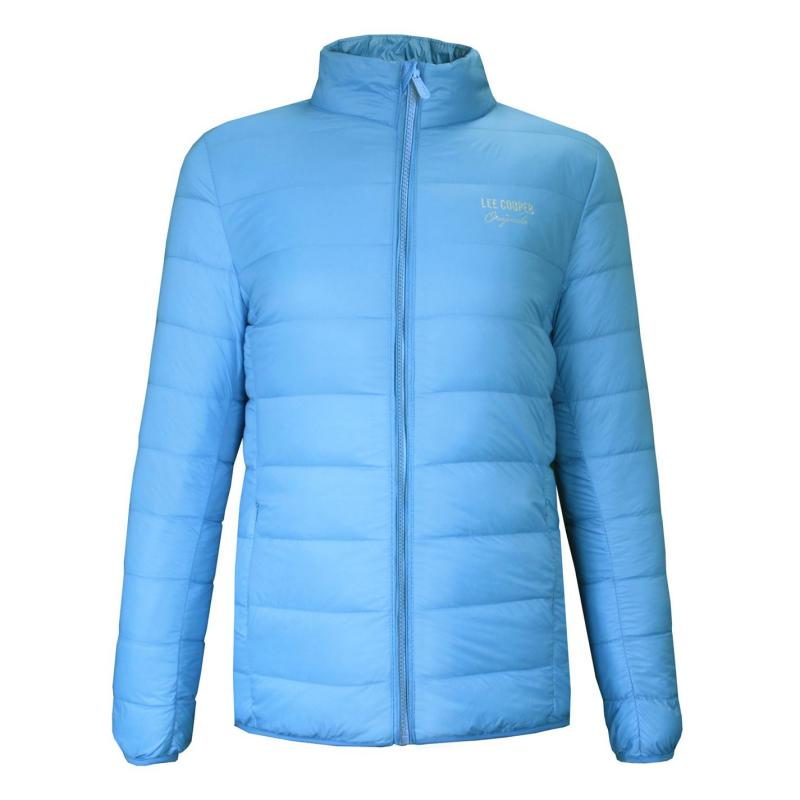Lee Cooper Xlite Down Jacket Girls Sky Blue