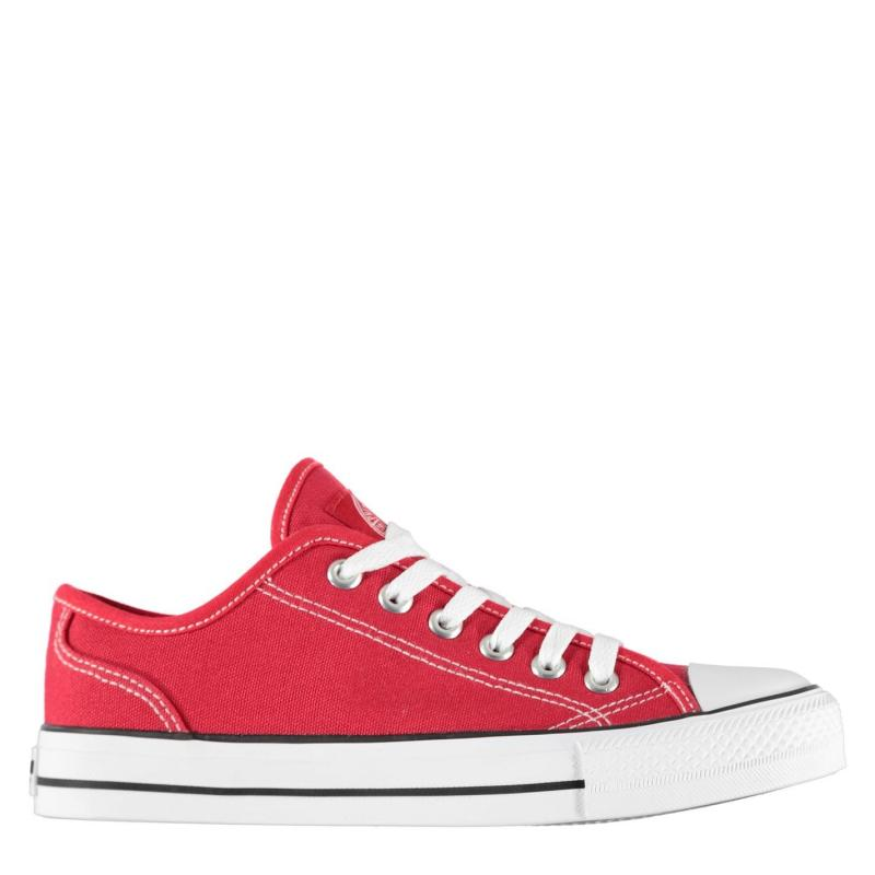 Obuv SoulCal Canvas Low Ladies Canvas Shoes Red