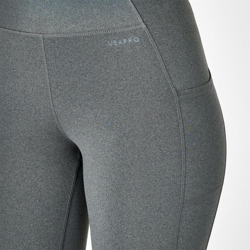 USA Pro Leggings Charcoal Marl