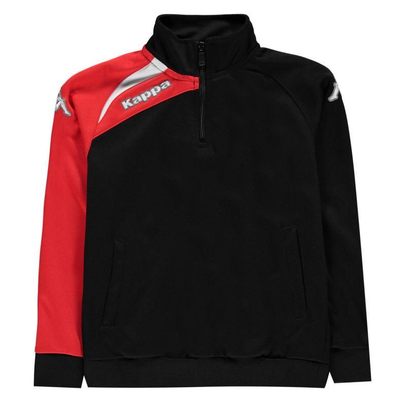 Bunda Kappa Arqua Tracksuit Jacket Junior Boys Black /Crimson