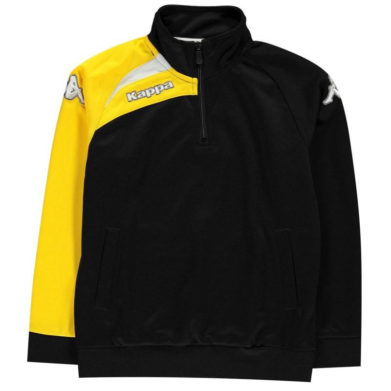 Bunda Kappa Arqua Tracksuit Jacket Junior Boys Black /Soleil