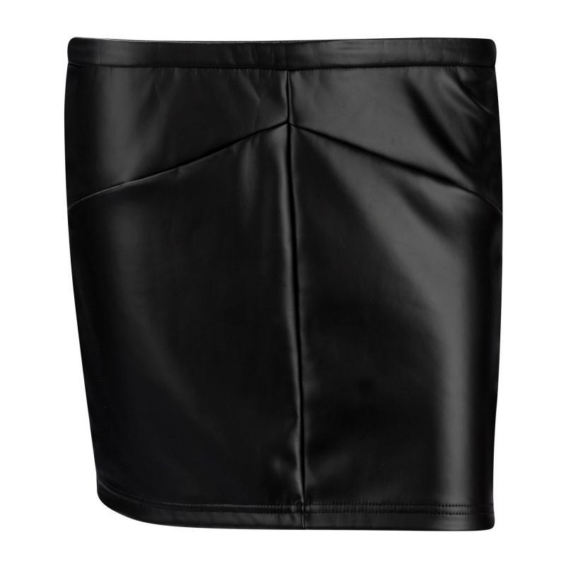 Sukně Lee Cooper PU Skirt Ladies Black