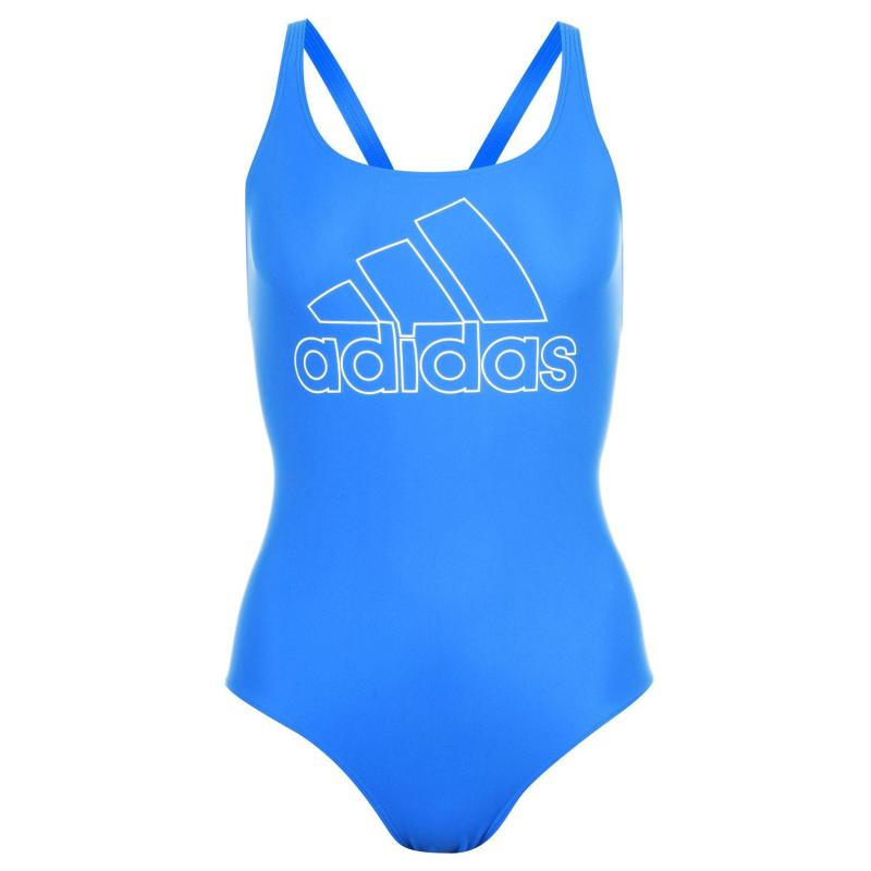 Plavky adidas Womens Fit Badge Of Sport Swimsuit Blue