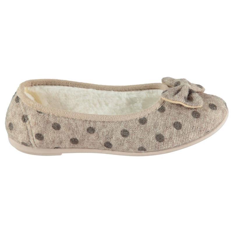 Dunlop Ladies Slippers Biscuit