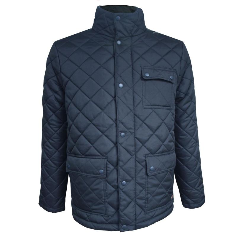 Lee Cooper Quilted Jacket Mens Navy