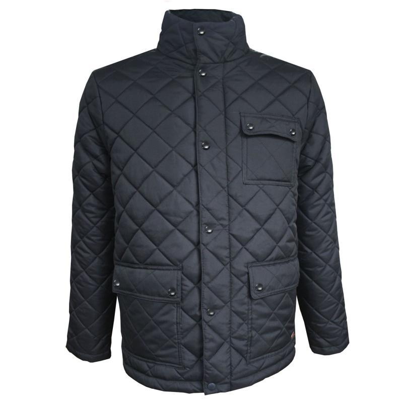 Lee Cooper Quilted Jacket Mens Black