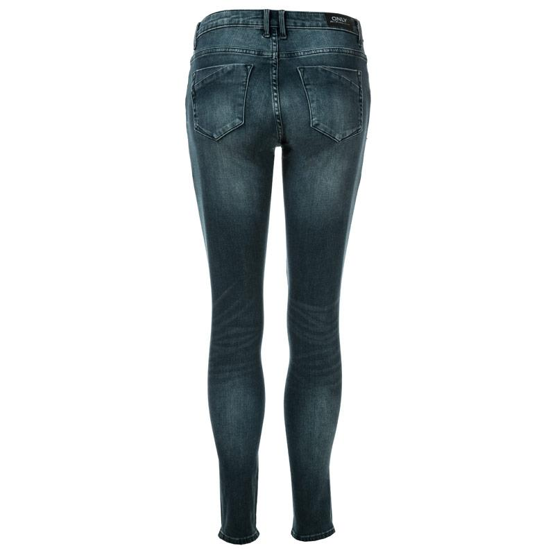 Only Womens Carmen Life Skinny Jeans Dark Blue