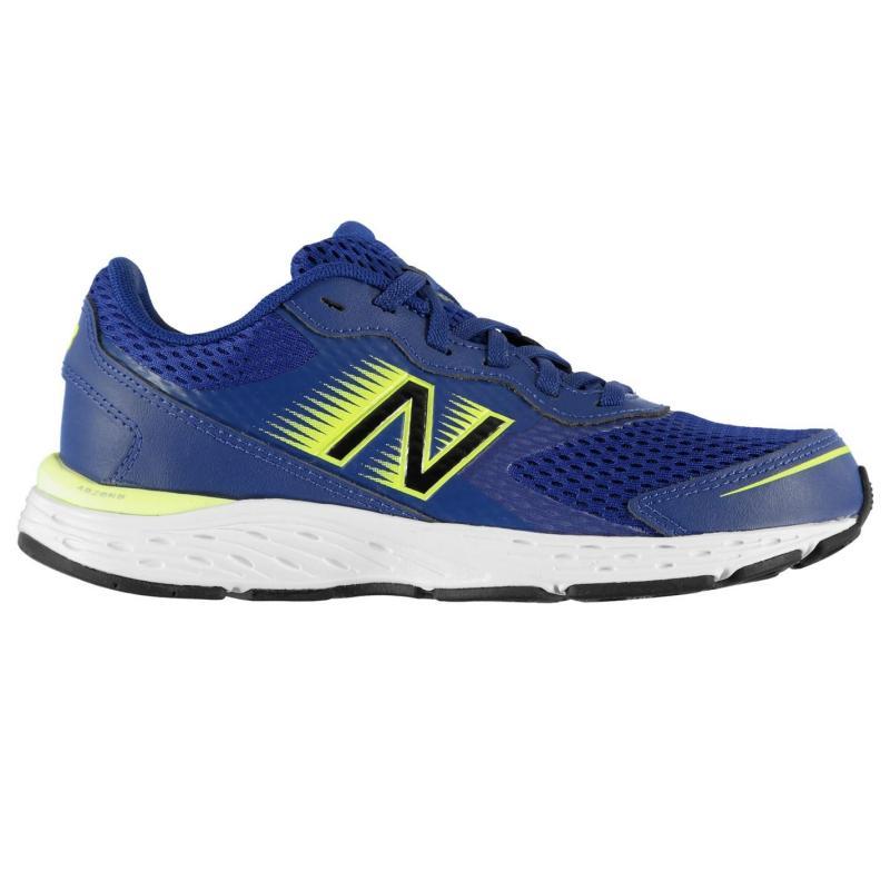 New Balance Balance 680v6 Junior Boys Running Shoes Navy/Yellow