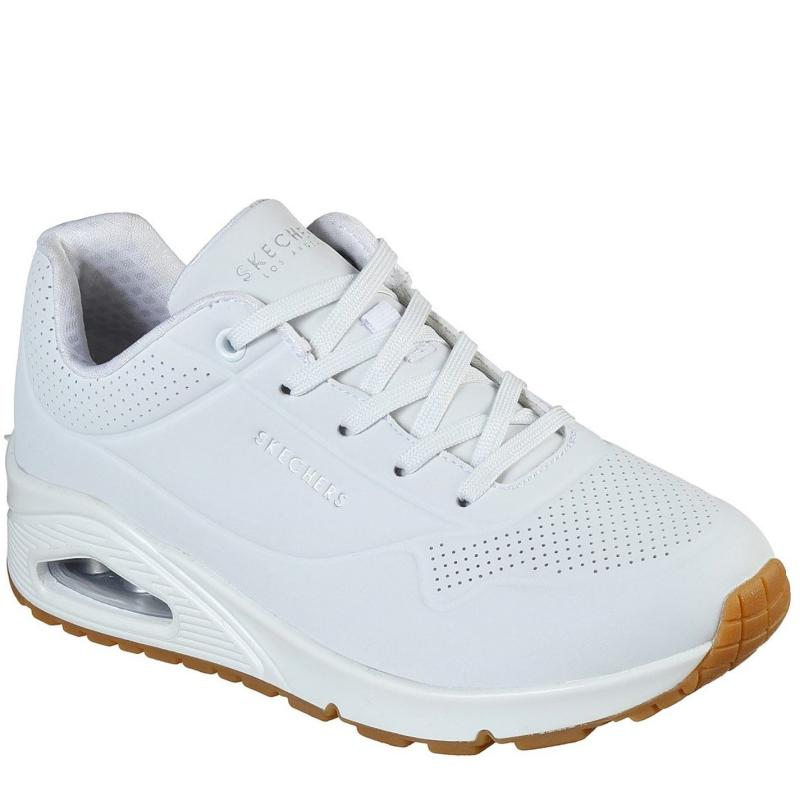 Skechers UNO Stand On Air Trainers Womens White