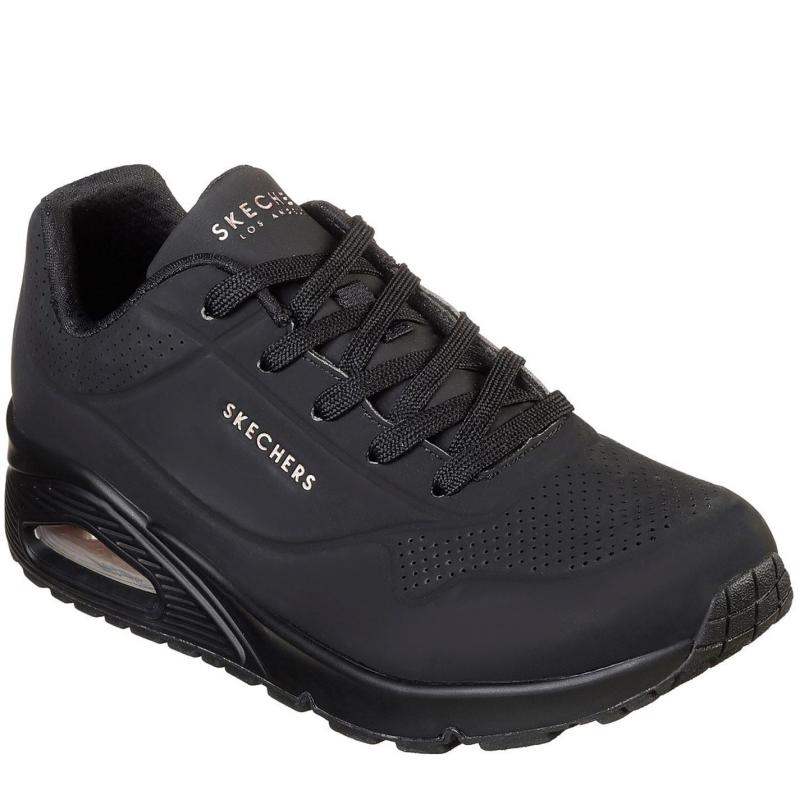Skechers UNO Stand On Air Trainers Womens Black