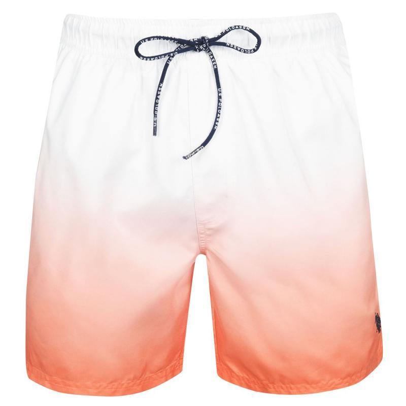 Plavky US Polo Assn Ombre Swim Shorts Mens Wht/Gold Pop