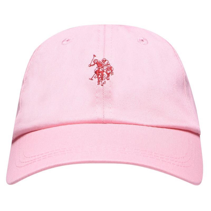 US Polo Assn Logo Baseball Cap Sea Pink