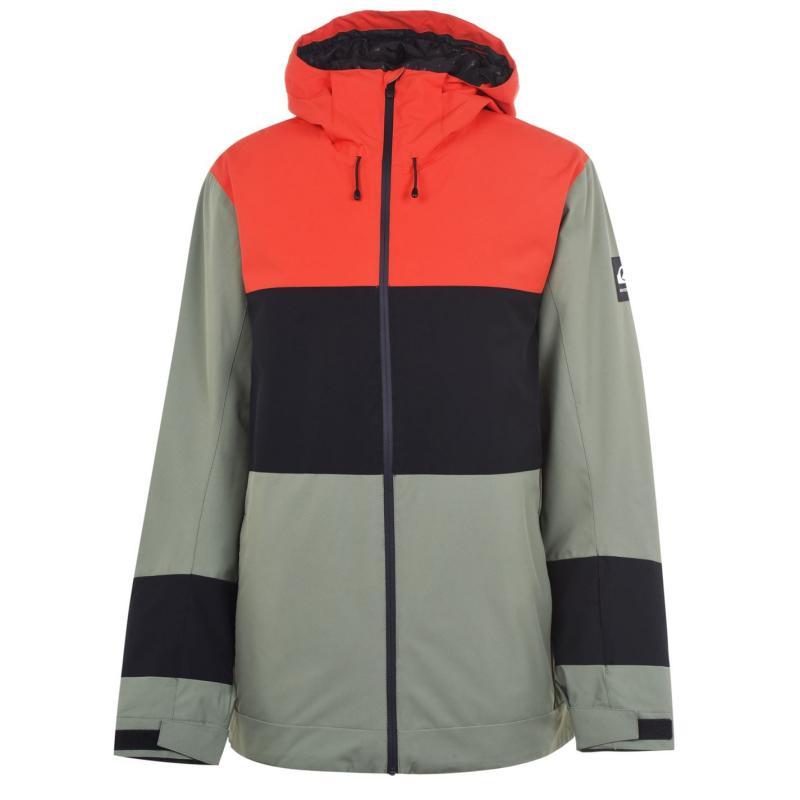 Quiksilver Sycamore Jacket Mens Orang/Black/Gre