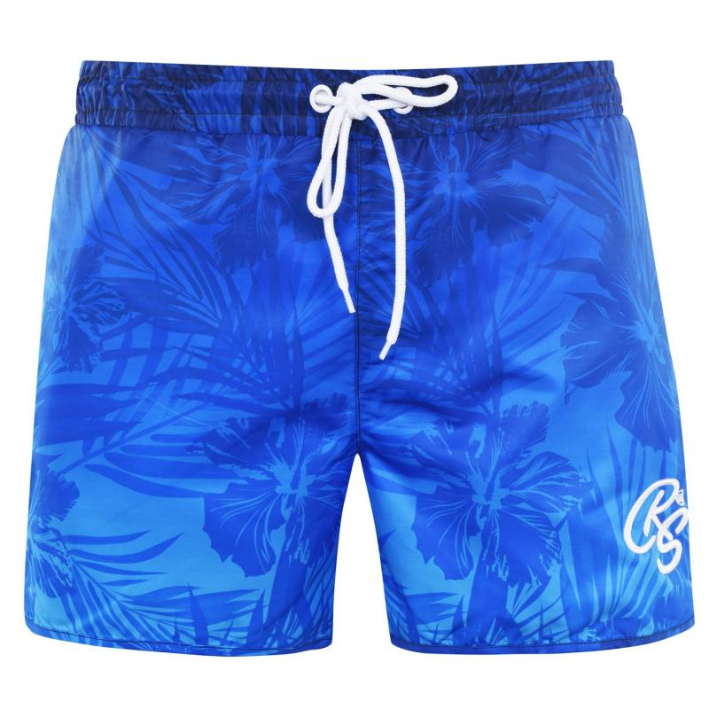 Plavky Crosshatch Print Swim Shorts Mens Assorted