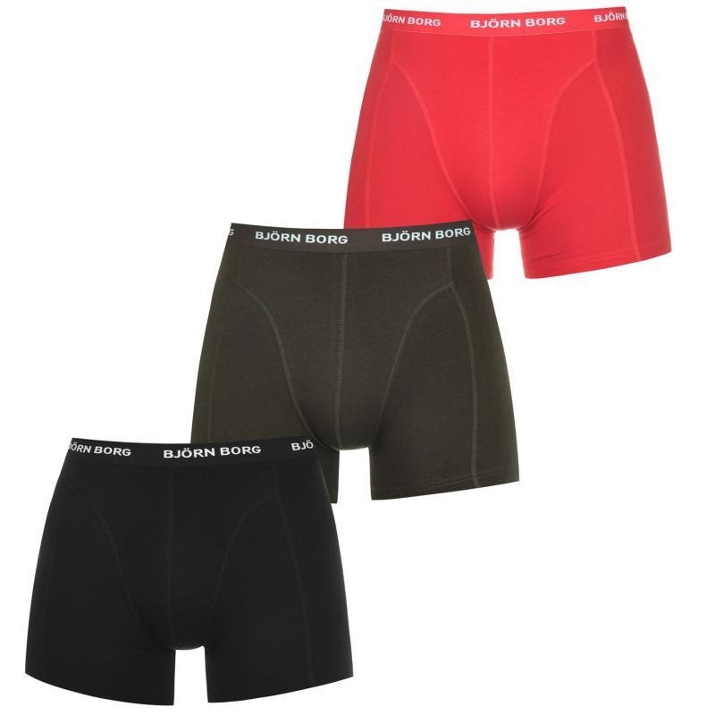 Spodní prádlo Bjorn Borg 3 Pack Tonal Trunks Chinese Red