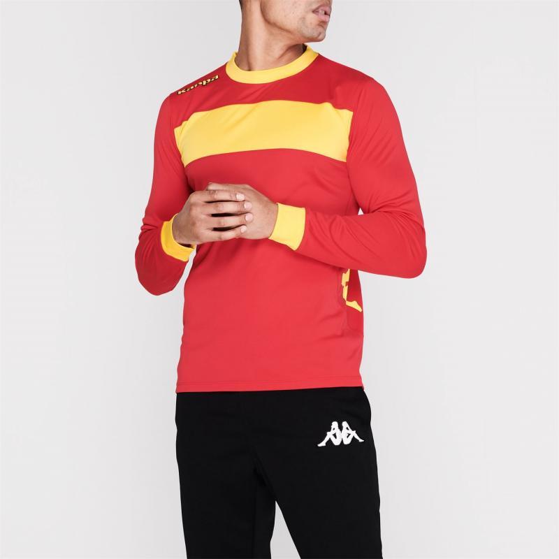 Tričko Kappa Remilio Long Sleeve T Shirt Red / Yellow