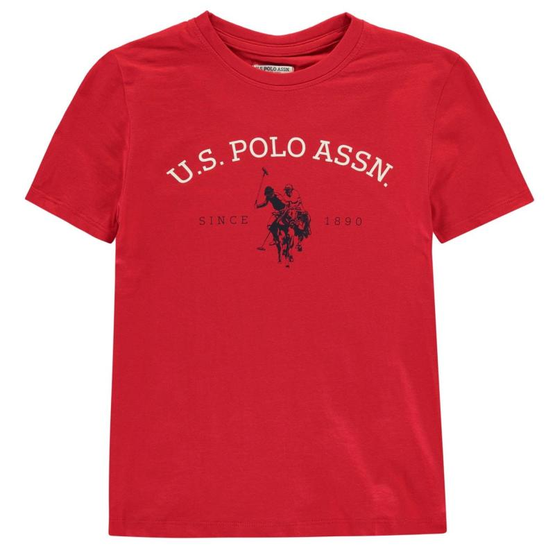 Tričko US Polo Assn Graphic T-Shirt True Red