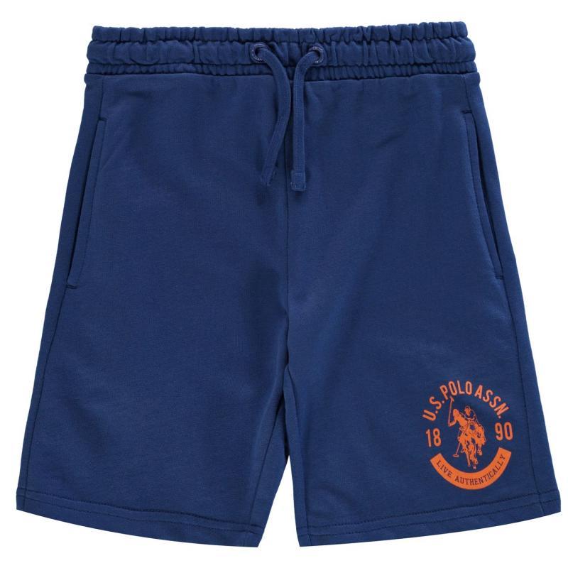 Kraťasy US Polo Assn Script Sweat Shorts Monaco Blue