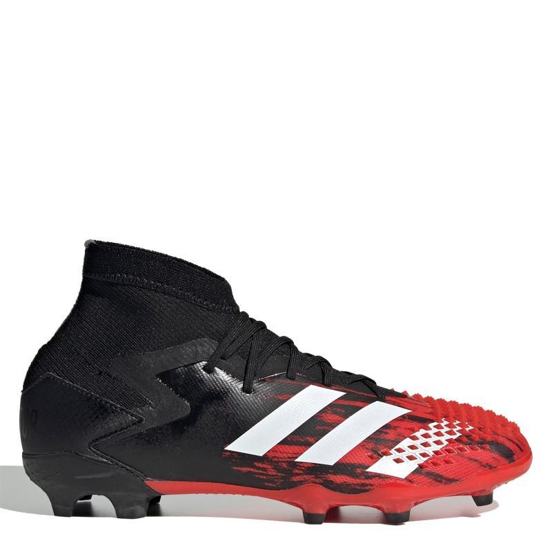 Adidas Predator 20.1 Childrens FG Football Boots Black/White/Red