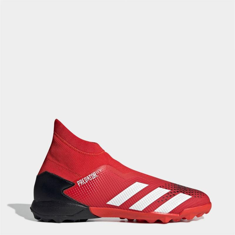 Adidas Predator 20.3 Laceless Mens Astro Turf Trainers Red/White/Black