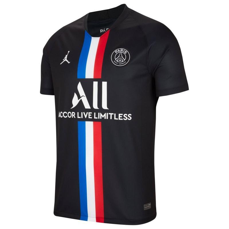 Nike Paris Saint Germain x Jordan Fourth Shirt 2019 2020 Black