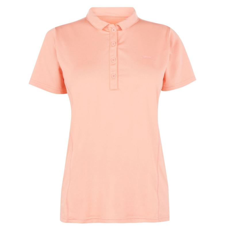 Polokošile Slazenger Plain Polo Shirt Ladies Pink