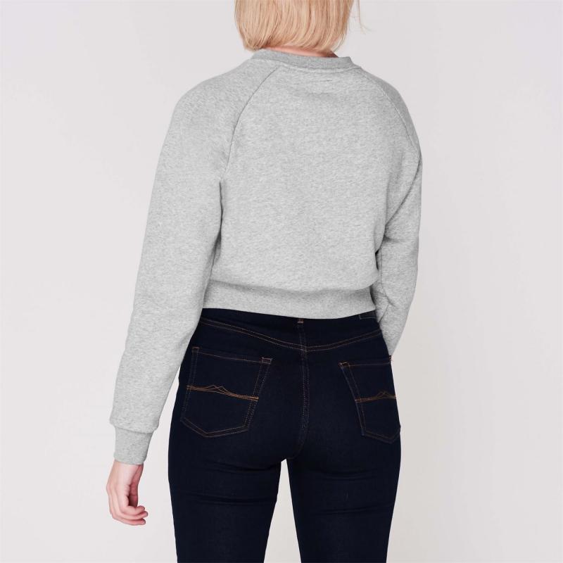 Mikina Converse Star Crew Sweatshirt Ladies Grey
