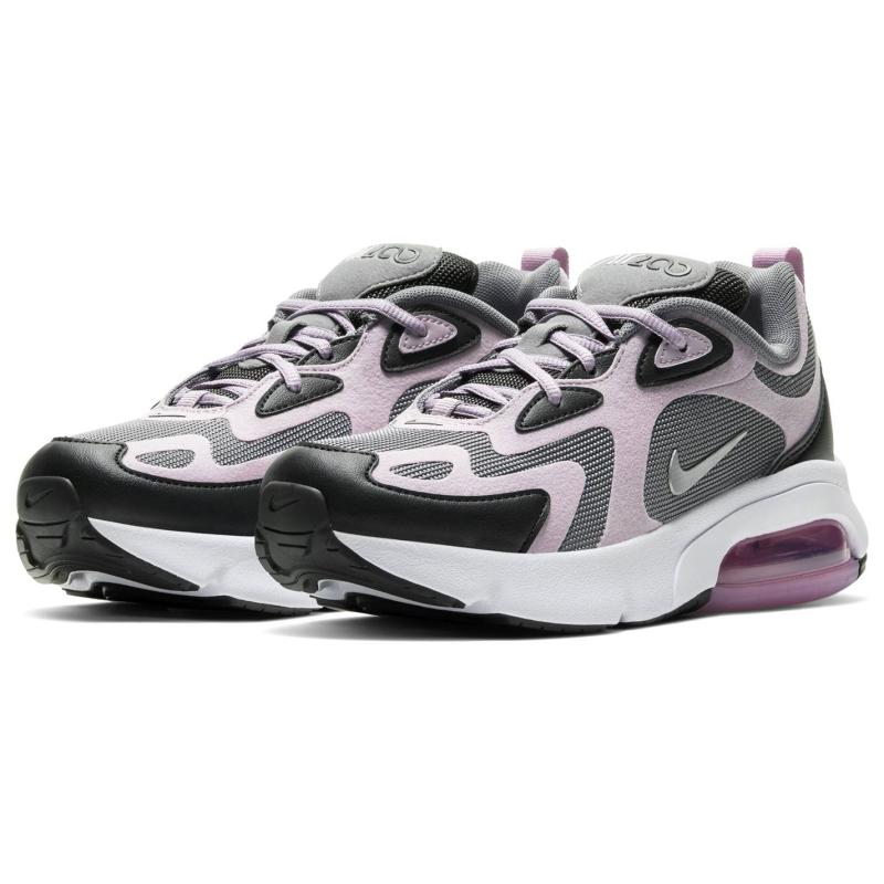 Nike Air Max 200 Big Kids' Shoe Grey/Lilac