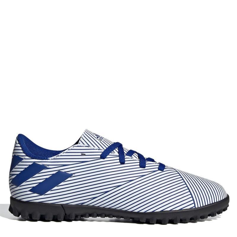 Adidas Nemeziz 19.4 Junior Astro Turf Trainers White/TeamRoyal