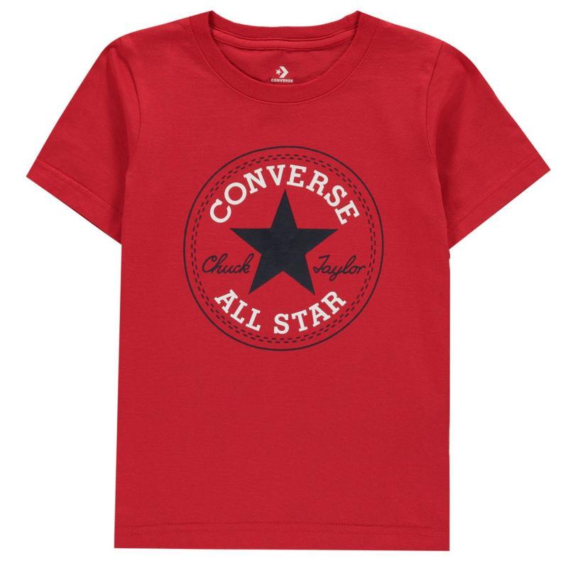 Tričko Converse Chuck Short Sleeve T-Shirt Infant Boys University Red