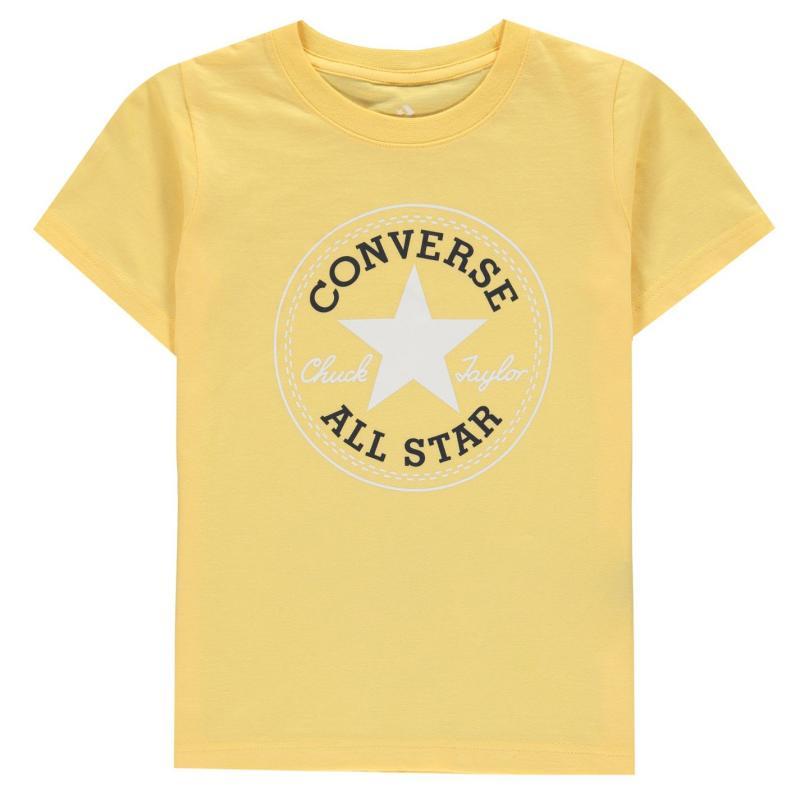 Tričko Converse Chuck Short Sleeve T-Shirt Infant Boys Topaz Gold