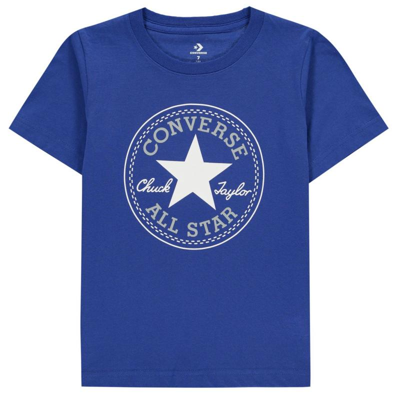 Tričko Converse Chuck Short Sleeve T-Shirt Infant Boys Blue