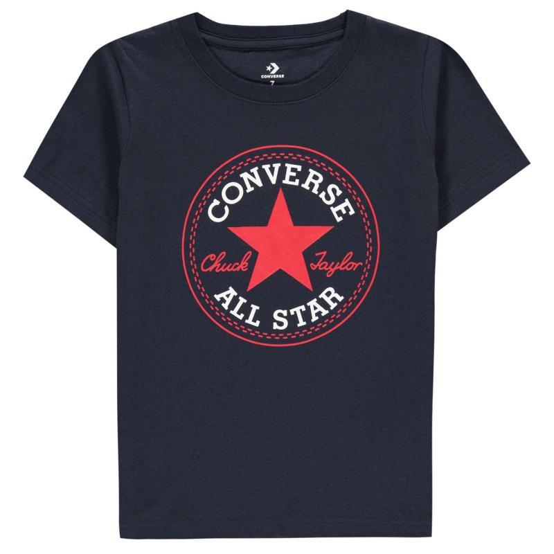 Tričko Converse Chuck Short Sleeve T-Shirt Infant Boys Obsidian