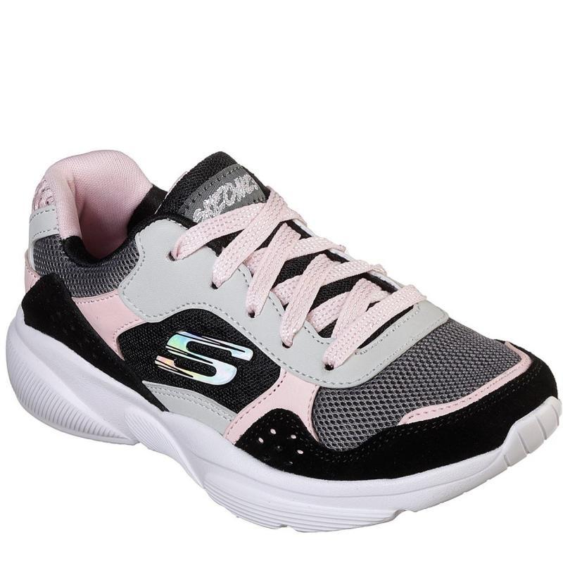 Skechers Meridian Junior Girls Trainers Black/Pink