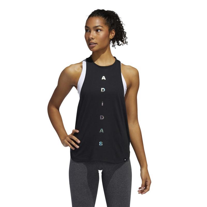 Adidas Logo Tank Top Ladies Black
