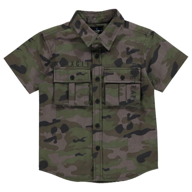 Košile Firetrap Cargo Shirt Infant Boys Camo AOP