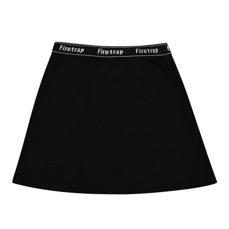 Firetrap Jaq Skater Skirt Girls Jet Black