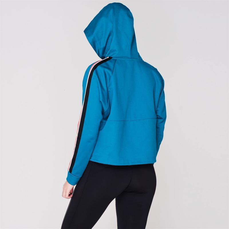 Mikina s kapucí Reebok WOR Half Zip Hoodie Ladies Seaport Teal