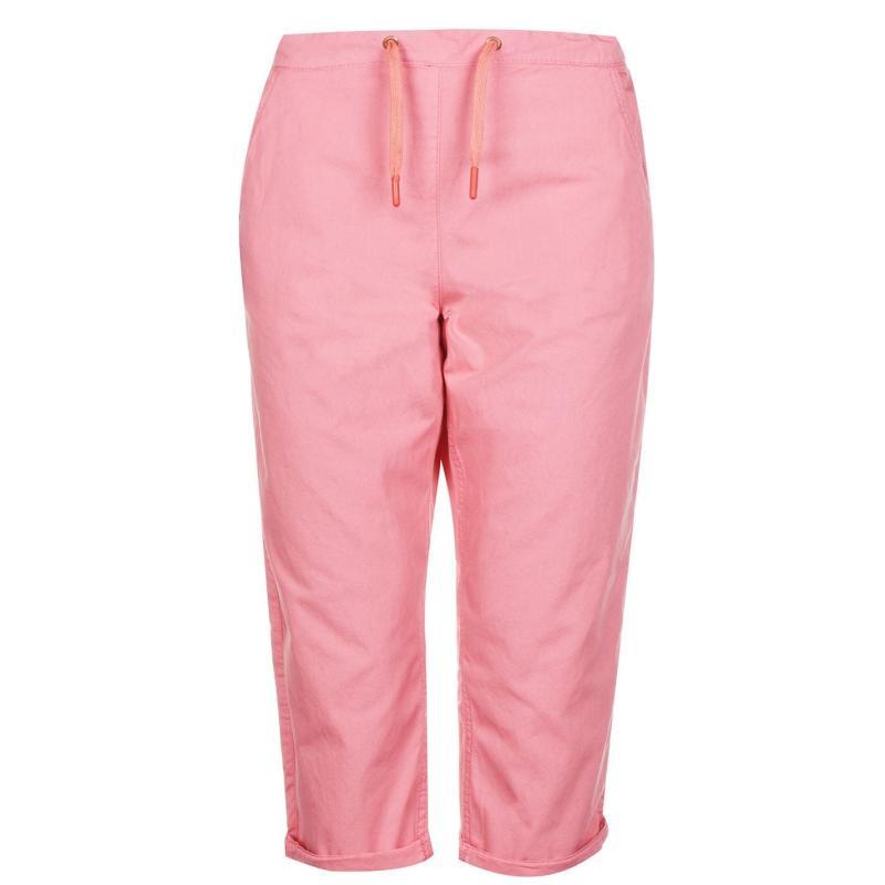 Rock and Rags Poplin Crop Trousers Ladies Coral