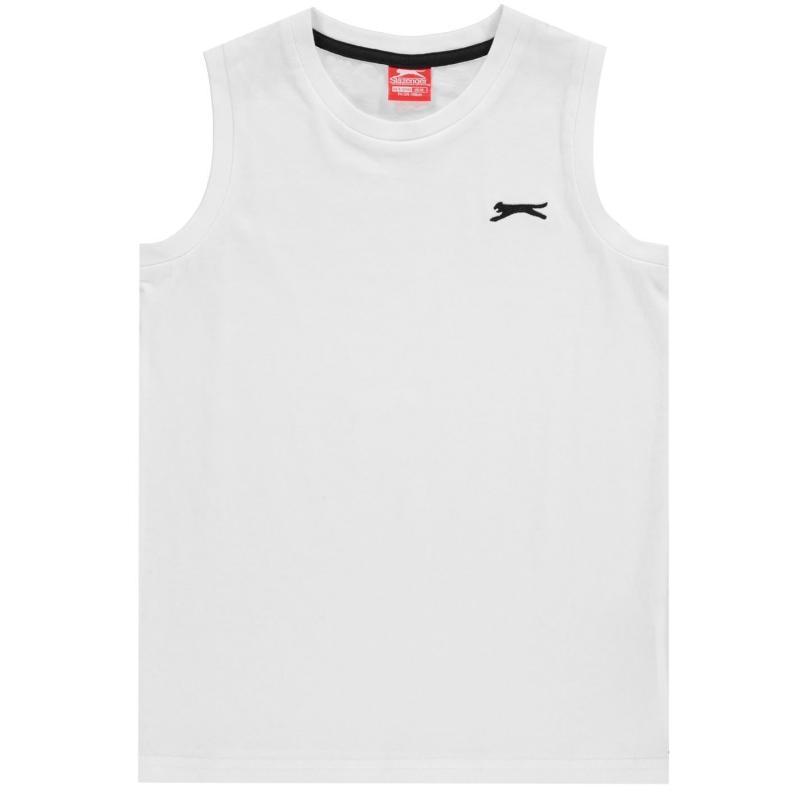 Tílko Slazenger Sleeveless T-Shirt Junior Boys White