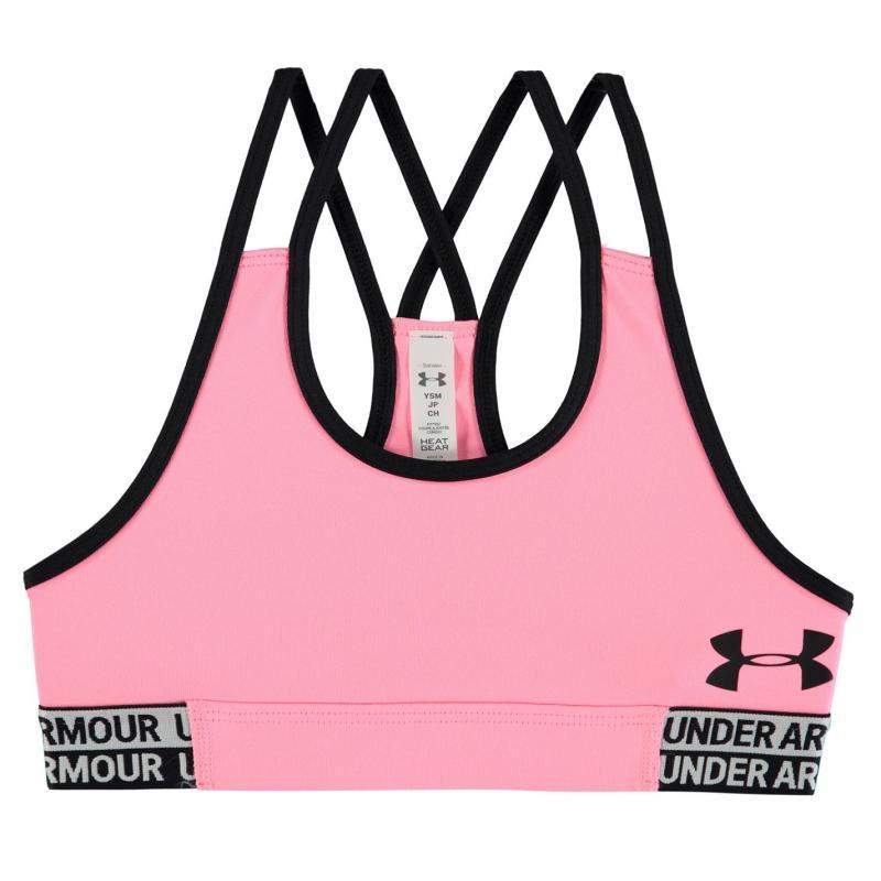 Under Armour Sports Bra Junior Girls Pink/Black