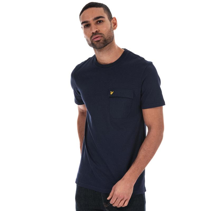 Tričko Lyle And Scott Mens Nylon Pocket T-shirt Navy