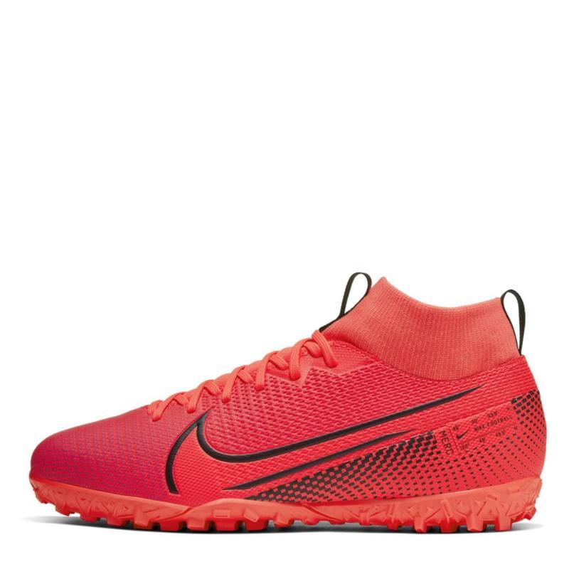 Nike Mercurial Superfly Academy DF Junior Astro Turf Trainers Crimson/Black