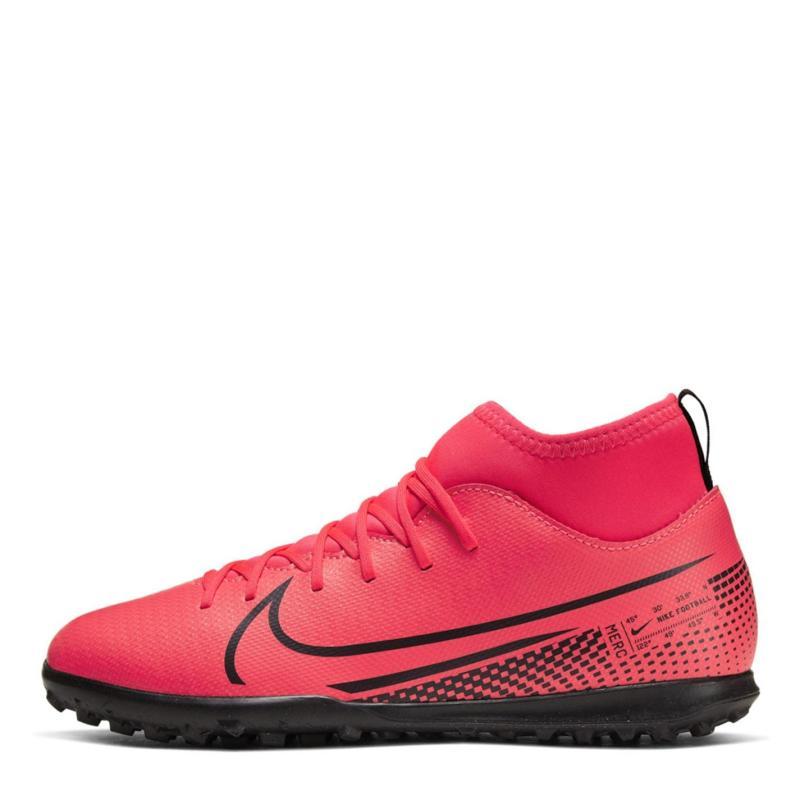 Nike Mercurial Superfly Club DF Junior Astro Turf Trainers Crimson/Black