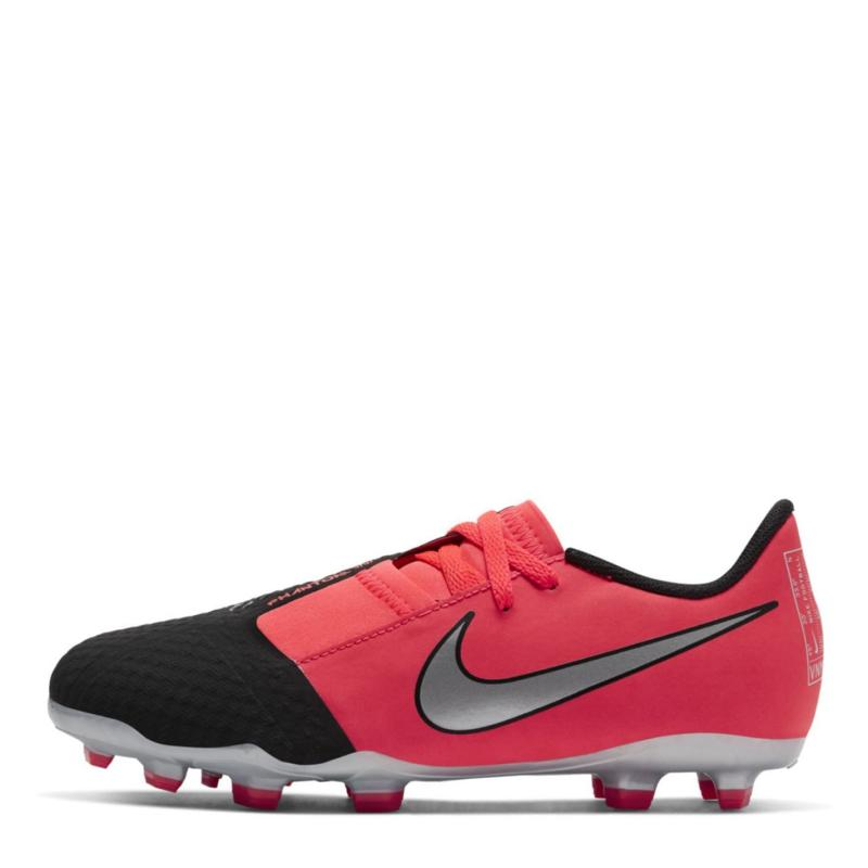 Nike Phantom Venom Academy Children's FG Football Boots LASER CRIMSON/METALLIC SILVER-