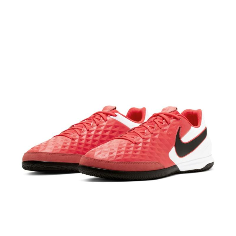 Nike Tiempo Legend 8 Academy IC Indoor/Court Soccer Shoe LASER CRIMSON/BLACK-WHITE
