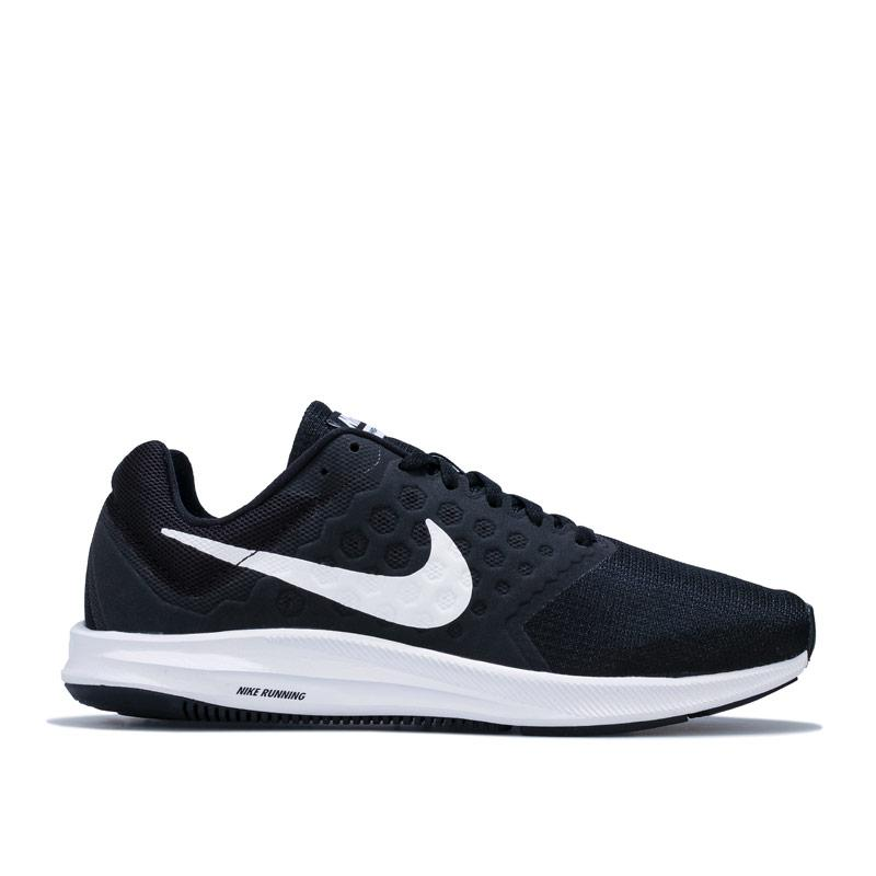 Nike Womens Downshifter 7 Running Shoes Black-White