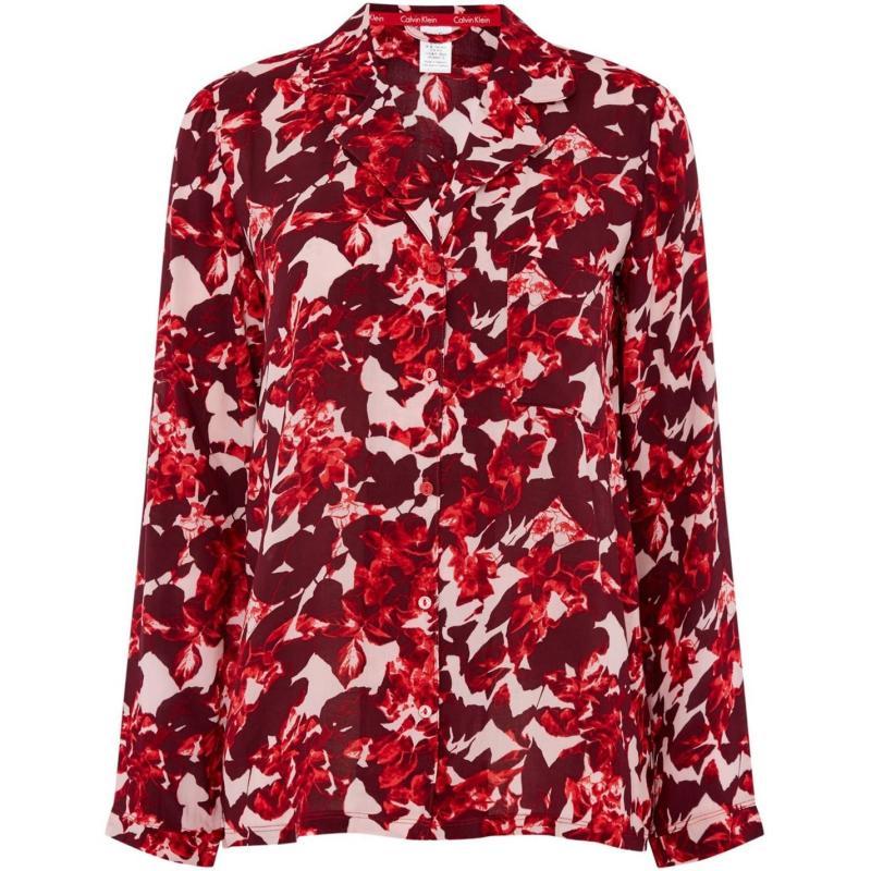 Pyžama Calvin Klein Fractured floral pj top