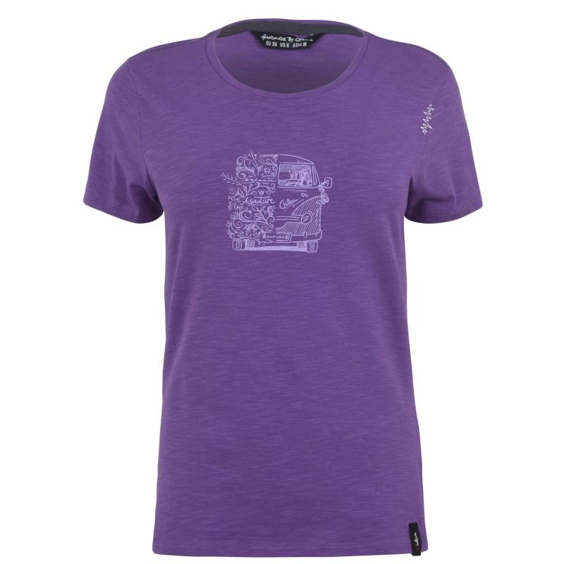 Chillaz Gandia Lettering Bus T-Shirt Ladies Violet