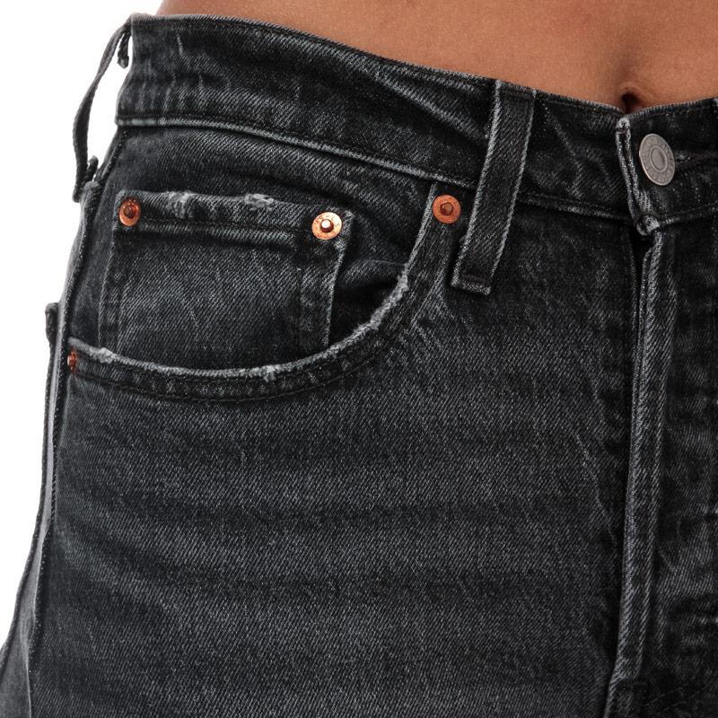 Levis Womens 501 Skinny Coal Black Jeans Grey